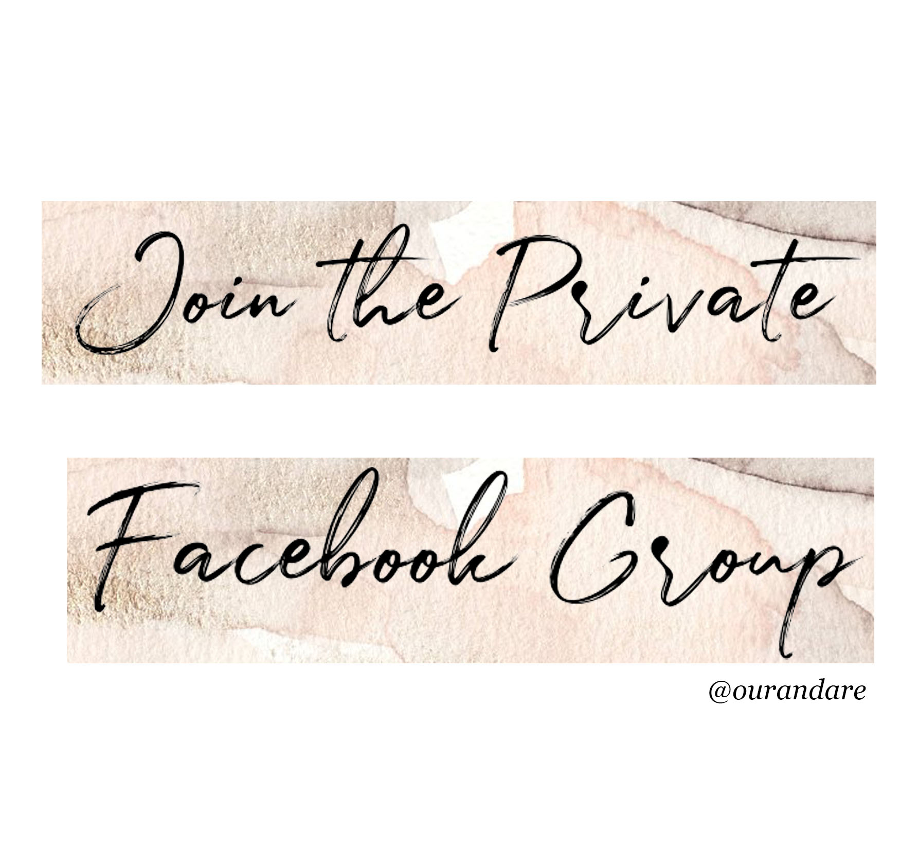 join the private facebook group